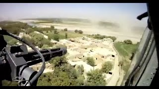 Pave Hawk Gunner Opens Up Minigun During MEDEVAC