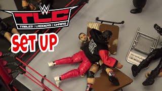 WWE action figure set up - TLC