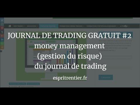 JOURNAL DE TRADING GRATUIT #2 money management (gestion du risque) du journal de trading 1
