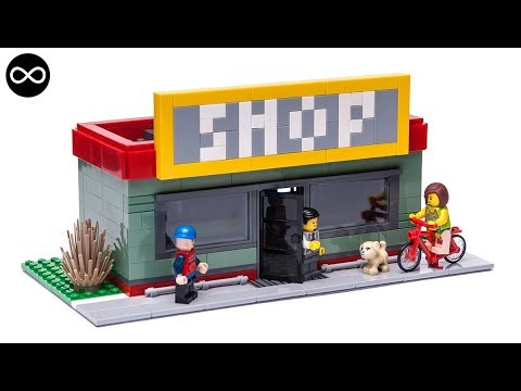 Lego City Mini Modular Shop Moc Stop Motion Building Instructions