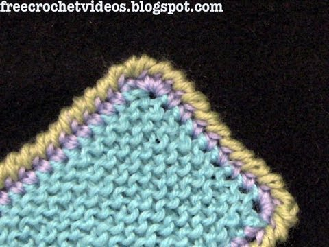 Reverse Single Crochet Or Crab Stitch Border Youtube