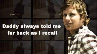 "Dierks Bentley ""My Last Name"" w/ lyrics"