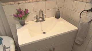 A sophisticated bathroom makeover for under $1000