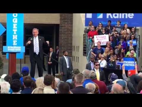Tim Kaine campaigns in Reno