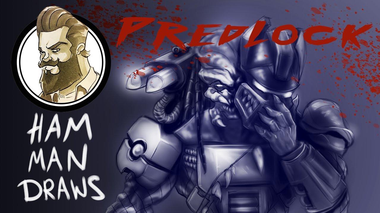 Ham Man Draws - Predlock - Predator/Grimlock Fushion