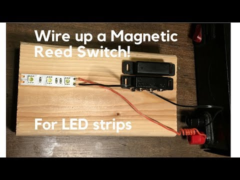 How to wire up magnetic switch in-line with a LED strip (reed switch Magnetic Stripe Wiring Diagram on
