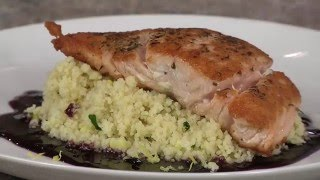 Grilled Salmon with Cabernet Raspberry Sauce