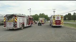 Chemical spill at Granby farm; 1 taken to hospital