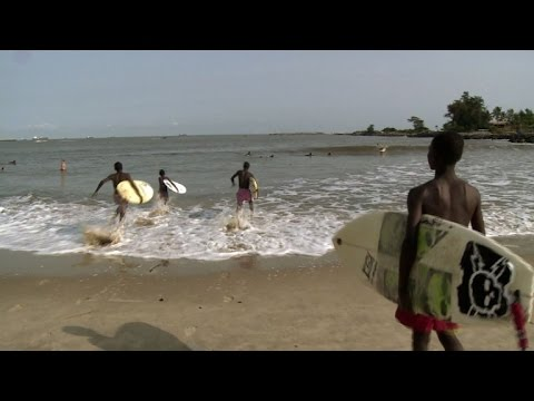 Nigerian youngsters catch waves at Lagos surf school