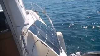 Trolling motor 58 Lbs with solar panel move big boat 8m (26 ft) , 3 ton ( 6600 Pounds ) with 1,5 mph