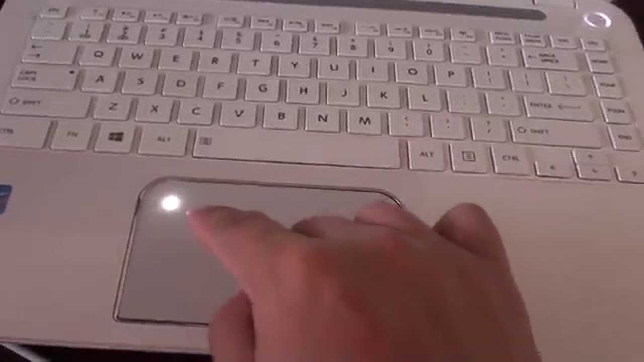 Toshiba Satellite L40: How to Lock / Unlock the Touch Pad - YouTube
