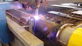 5 Axis Plasma Cutting Pipe On Rotary