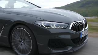 BMW 8 Series Convertible. Country Road Driving Scenes