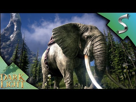 HIGH LEVEL MASTRODON TAMING! RIDING AN ELEPHANT! - Dark and Light [Gameplay E7]