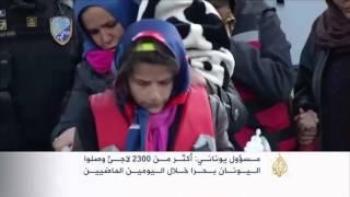 ارتفاع أعداد اللاجئين الواصلين لليونان