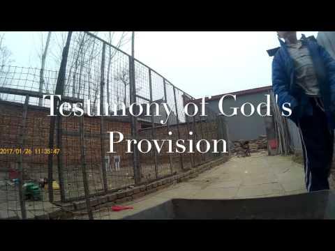Testimony of God's Provision
