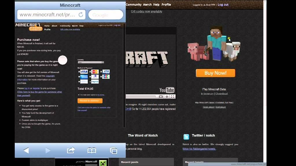 Minecraft Paypal