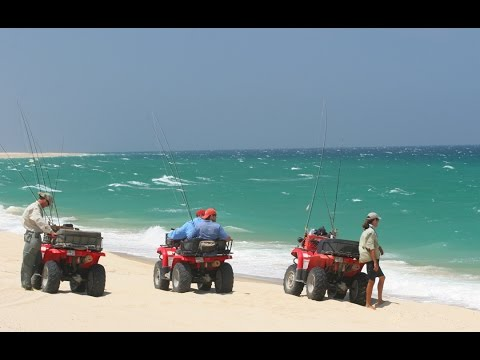 ATV Fly Fishing for Roosterfish - East Cape of Baja Mexico - Sea of Cortez