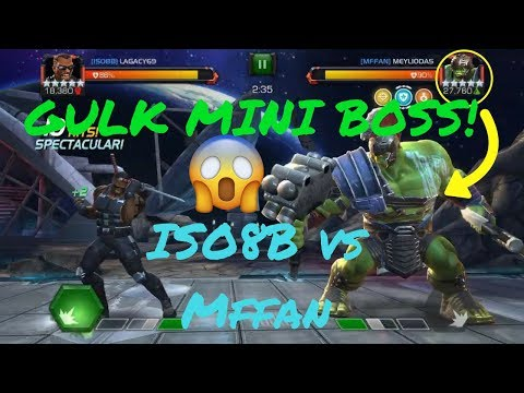 AW Gulk Mini Boss! (Debuff Immune) ISO8B vs Mffan S1 #15 - Marvel Contest Of Champions