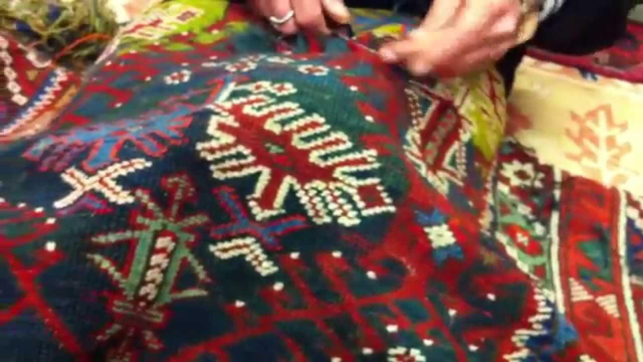 restauro tappeti antichi - youtube