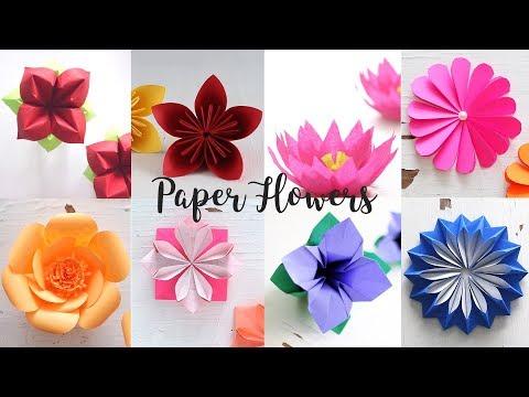 8 Easy Paper Flowers