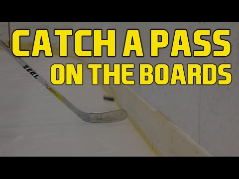 Best way to catch a breakout pass on the boards