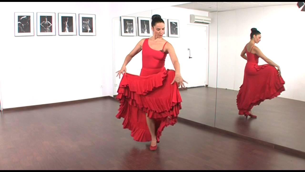 El Movimiento De La Falda En El Baile Flamenco Youtube
