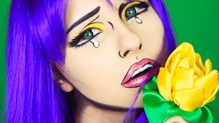 Comics Forever Alone Girl V-Day makeup tutorial by Anastasiya Shpagina