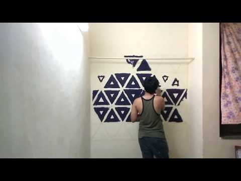 DIY Geometric Wall Painting !!!