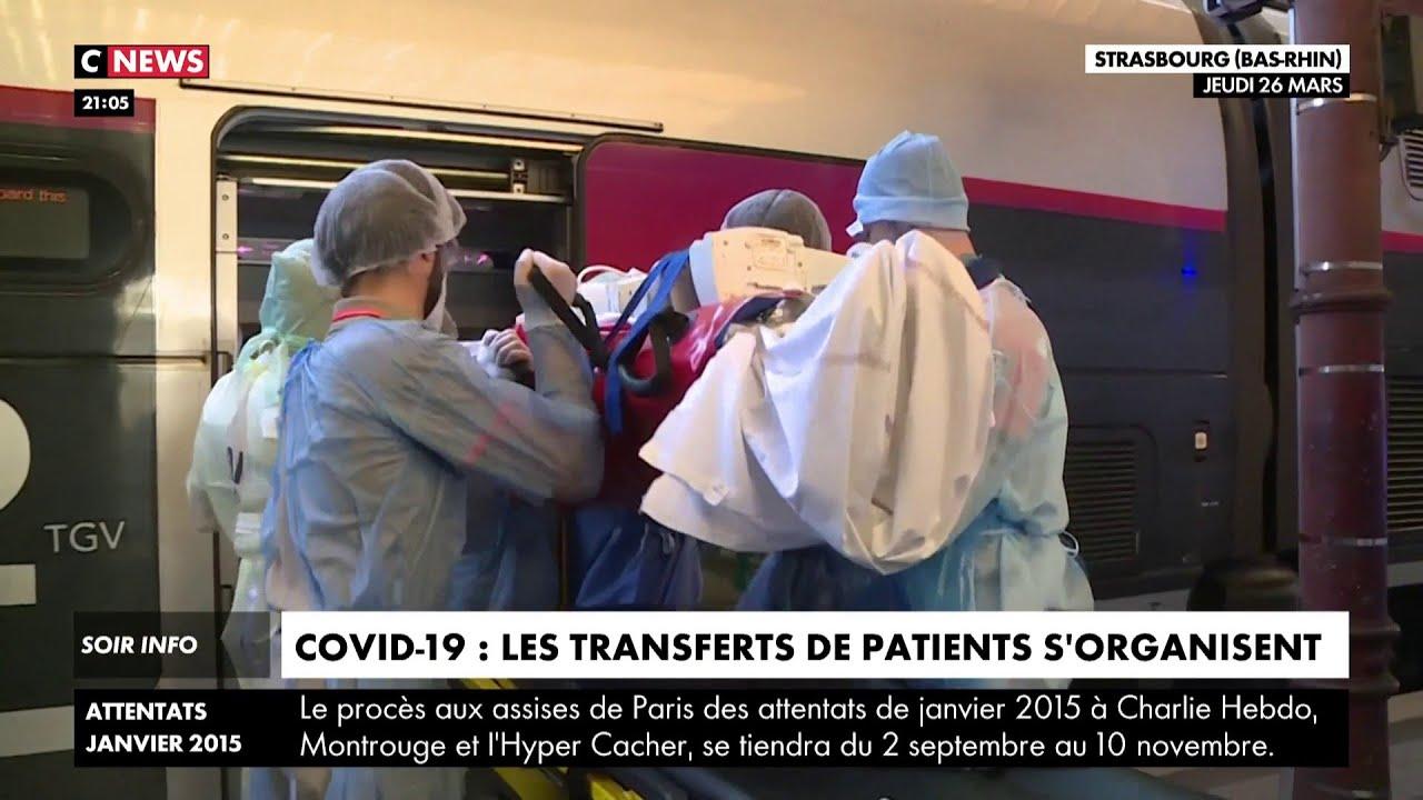 Les transferts de patients se poursuivent vers les régions moins saturées