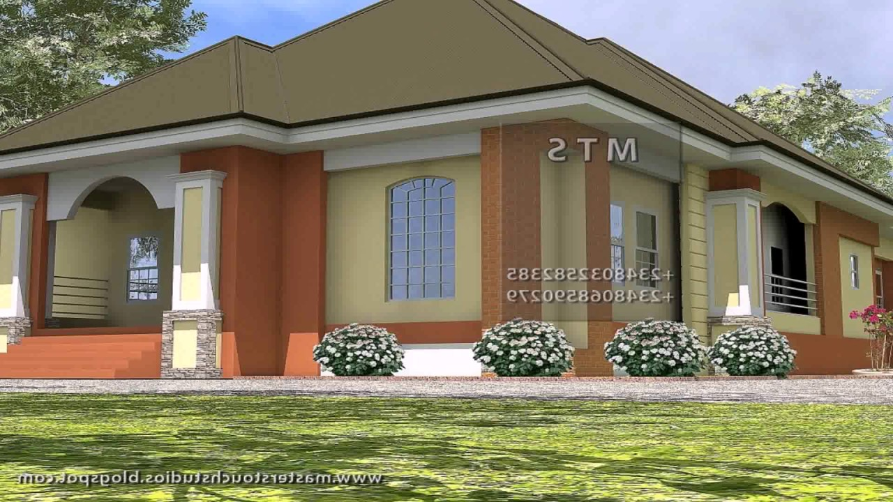Simple 2 bedroom house plans in kenya youtube for Two bedroom house
