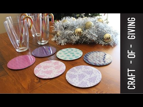 Easy and Affordable DIY Christmas Coasters   Craft of Giving