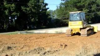 Komatsu Dozer spreading fill dirt
