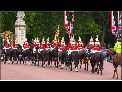 Changing of the Guard at Buckingham Palace (10th June 2015), London UK  (HD1080p)