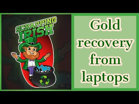 Gold recovery from laptops