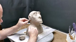 Air Dry Sculpting, part 4. Eyes, ears, and a big pouty lip!