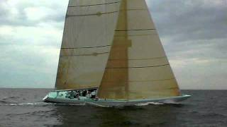 12 Meter Yachts Courageous and Victory Racing upwind off Edgartown 8/11