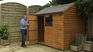 Features of Forest's Overlap Dip Treated Shed Range