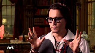 "JOHNNY DEPP SINKS HIS TEETH INTO TIM BURTON MOVIE ""DARK SHADOWS"""