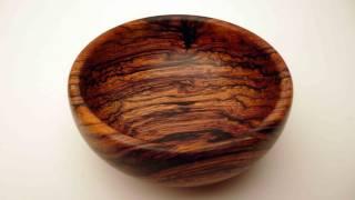 Woodturning Cocobolo Bowl