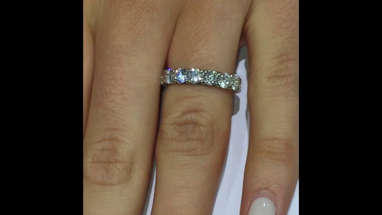 band bands in ct cushion p ring carat cut platinum tw diamond eternity
