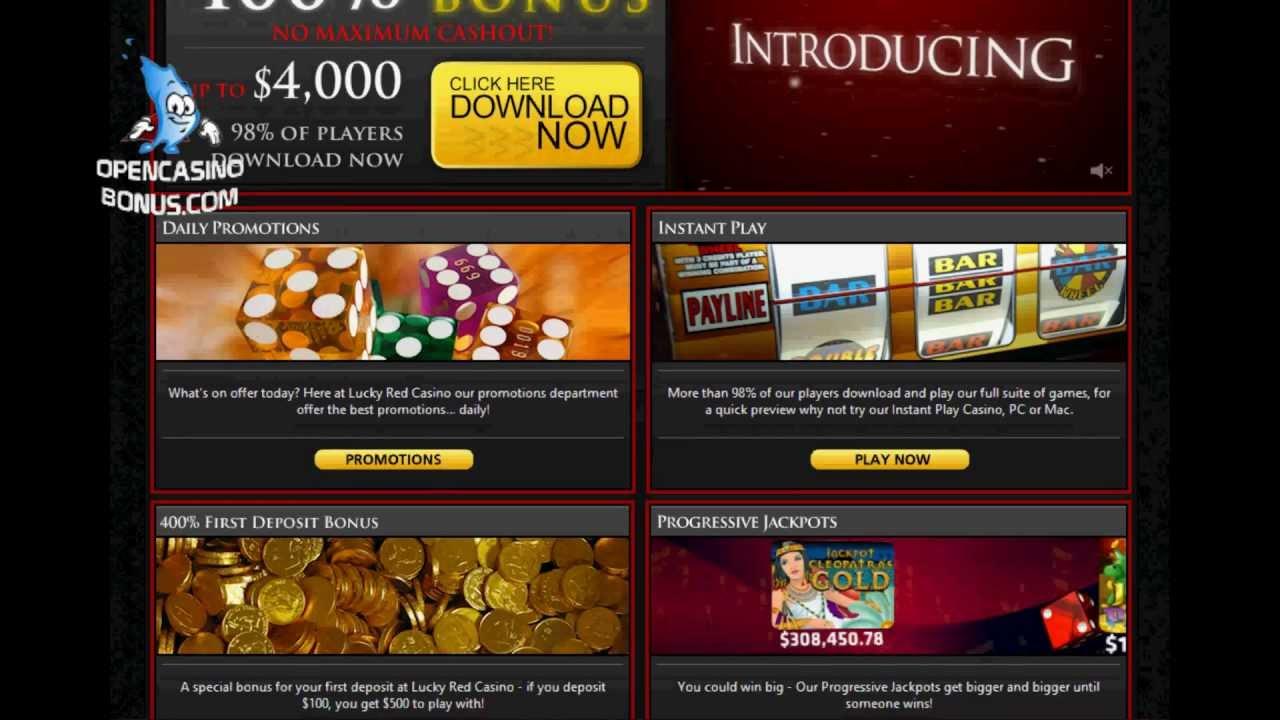 Lucky Red Casino No Deposit Bonus 15 Free Chips Youtube