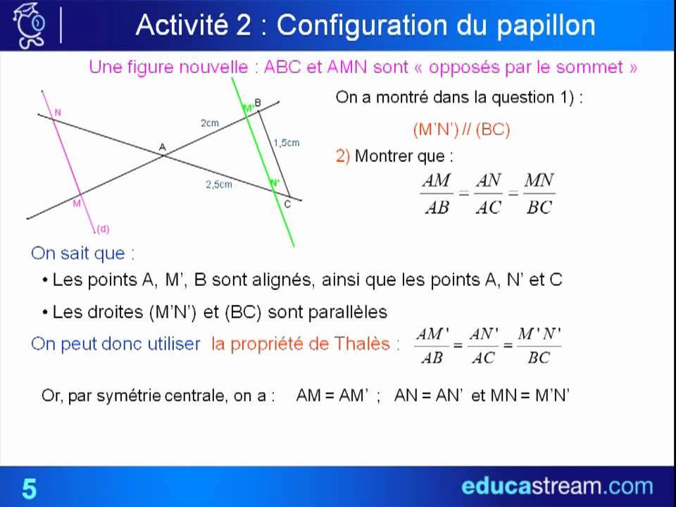 théorème de Thalès cours maths 3ème - YouTube