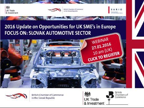 WEBINAR: Update on Jaguar Land Rover & Opportunities in Slovakia - 2016