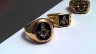 Freemason ( Master Mason ) rings