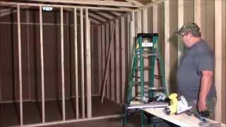 Part 3 Framing Interior Walls For The Tiny House @ St. Bernard Acres