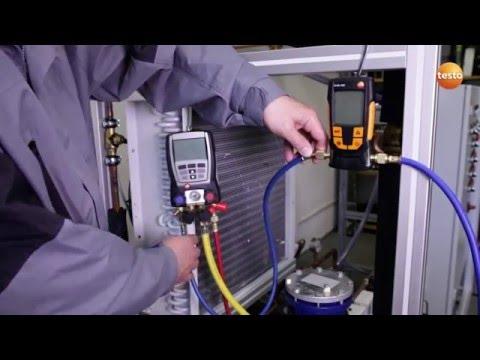 Testo 552 Vacum Guage - Evacuation of a Refrigeration System