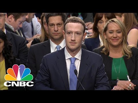 Mark Zuckerberg Testifies On Capitol Hill - April 11, 2018 | CNBC