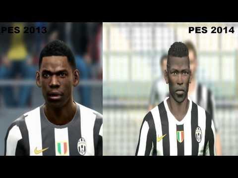 PES 2013 Vs PES 2014 Juventus Faces Comparison