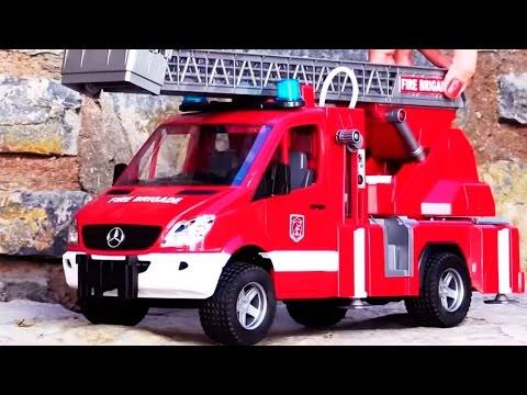 Мультики про машинки все серии подряд! Рабочие машины, Джип, Пожарная машина. Сборник мультфильмов